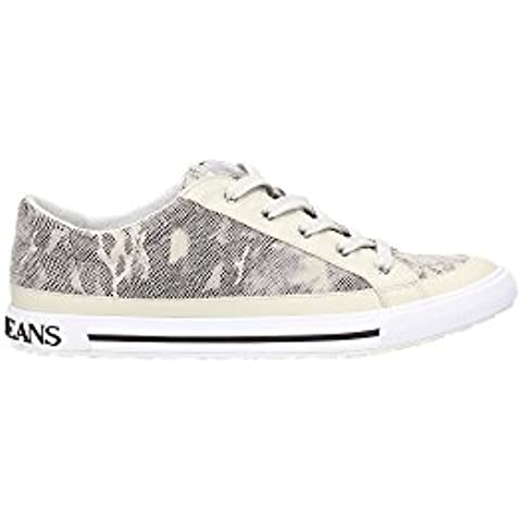 A55A7671D Armani Jeans Sneakers Mujer Poliéster Beige