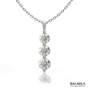BALMILA – Damen Schmuck – 925 Sterling Silber Halskette – Statement Stücke, Anhänger und Ohrringe – Ideale Geschenke für Sie – Luxus Geschenkverpackungen personalisierte Karten