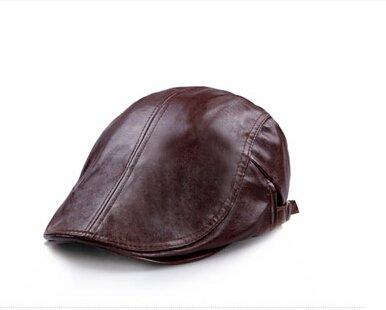 verstellbar Damen Herren Leder flach Gap Cabbie Hut Gatsby Ivy Caps Irish Jagd Mützen, Schiebermütze, Golf Hat, Berets Hat