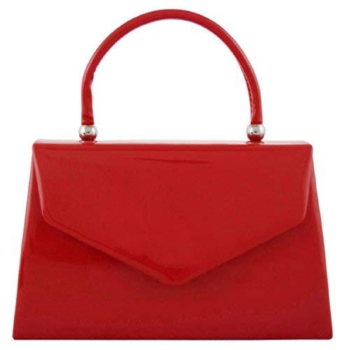 Red - fi9 BNWT Retro Tote Patent Leather Bridal Wedding