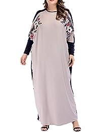 Vestidos Arabes Musulmanes Maxi Abaya - Mangas Largas Bordados de Kaftans Camisa Mujer Islámico de Noche
