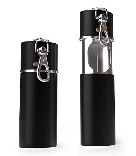 Zigaretten Taschenascher Taschenaschenbecher geruchsdicht | Reise-Aschenbecher - Aschenbecher für unterwegs - Aschenbecher to go (Matt Schwarz) (Schwarz matt)