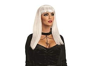 Rubies- Peluca de vampiresa traviesa para adulto, Color blanco, Talla única (Rubie