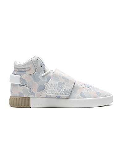 adidas Performance Herren Mid-Cut-Sneakers Tubular Invader Strap Weiss (10) 431/3 (Boot 3 Strap)