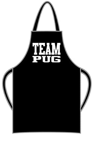 Team Pug Apron - wrapping and gift message service available