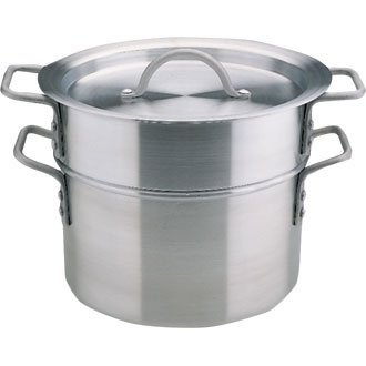 Vogue Aluminium Double Boiler 10Ltr 27.5cm Heavy Duty Kitchen Cooking Pan