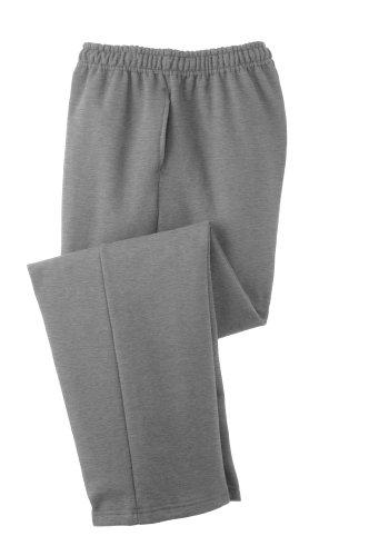 Joe's USA Weiche und gemütliche Sweatpants für Erwachsene, klassischer Stil, offene Hose, in 8 Farben erhältlich - Grau - Groß Womens Open Bottom Sweatpants