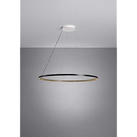 El Deun luminarias-suspensión Circle by el Deun 80 unidades, color negro