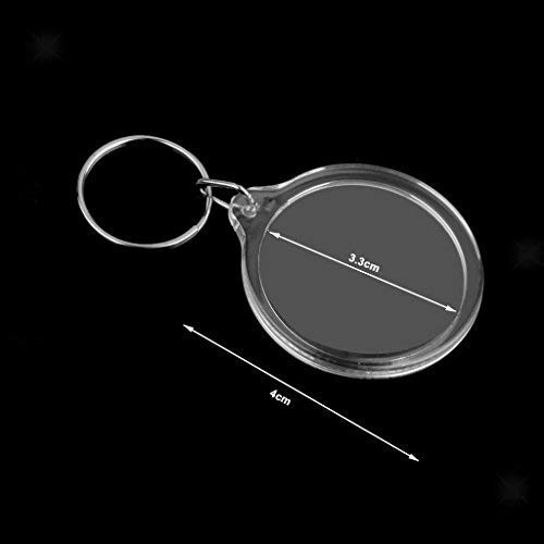 Zoom IMG-1 50 portachiavi trasparenti circolari per