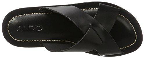 Aldo Legelalian, Sandales Bout Ouvert Homme Noir (97 Black Leather)