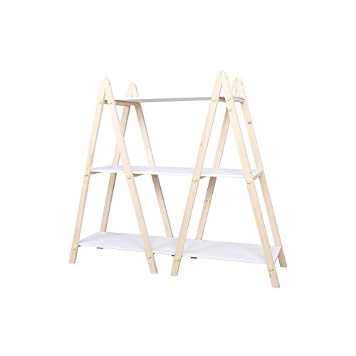 LUYIYI Nordische dekorative Massivholz dreistufige Rack Lagerregal Bücherregal Finishing Rack