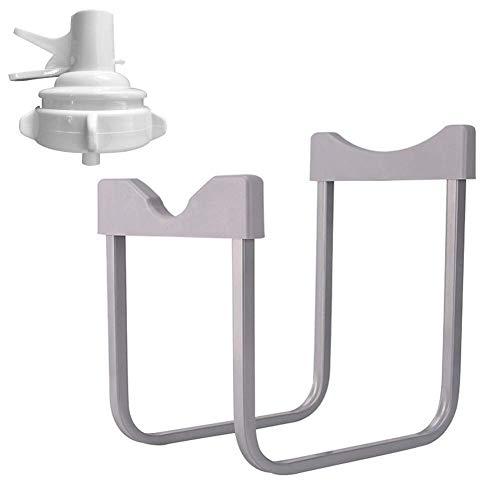 Trinkwasser Eimer Rack, Getränk Spender Kühler Ständer Küche Wasser Lauf Regal Einfach Invertiert Desktop Wasser Spender Halterung mit Wasserhahn - Weiß, free size
