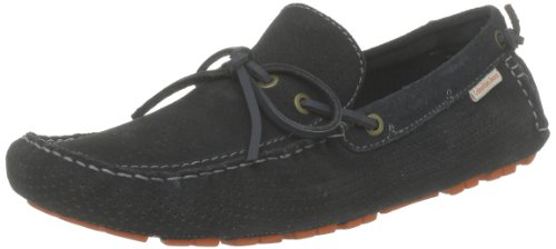 Calvin Klein Jeans Gus Perforated Suede, Mocassins homme Bleu (Mnt)