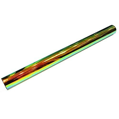 HOHO Holografische chrom Rainbow Rückseite schwarz Auto Vinyl Wrap Bubble Sticker Film Automatischer Tönung (138cmx50cm)