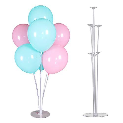 Poseca Balloon Stand Kit Klarer Tisch-Ballonhalter für Geburtstagsfeier und Hochzeitsdekorationen Eröffnungszeremonie