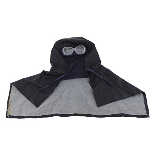 Cubierta Protectora para Polvo de Alta Calidad Cabeza Protección para Cuello Soldador Sombrero con Gafas