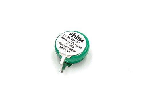 vhbw NI-MH Akku 40mAh (1.2V) 2 Pins - Printanschluss für Modellbau, Solarleuchten, Telefon, etc. wie V40H