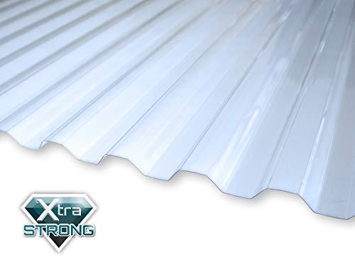 KAISER plastic® Wellplatte   Xtra Strong (PC)   glatt und klar   Trapez 76/18   90 x 120 cm   1 Stk.   Made In Germany