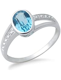 Miore - MG9012RO - Bague Femme - Or blanc 375 1000 (9 carats) 7babb3868185