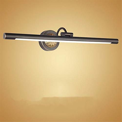 BOOTU LED Wandleuchte nach oben und unten Wandleuchten Kupfer Spiegel vorne Lampen Badezimmer Schrank bad Spiegelleuchte Wandleuchte Spiegelleuchte Bad Eitelkeit Licht, Schwarz, 43 cm, 8 w -