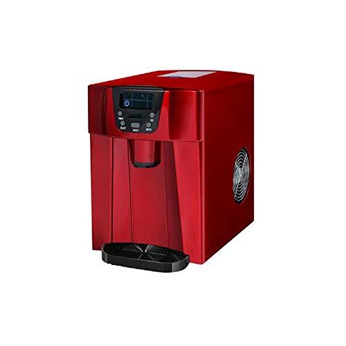 CONRAL Automatische Eismaschine, 3-in-1-Counter-Top-Eismaschine + Eiswürfelspender + Kaltwasserspender mit LED-Anzeige, 2 auswählbare Würfelgrößen, mit Eisportionierer -