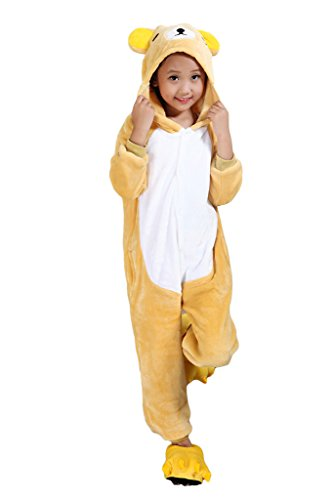 Auspicious beginning Rilakkuma Kind Schlafanzüge Tier Cosplay Kostüm Baby-Body Sleepsuit Freizeitkleidung Kigurumi Pyjama