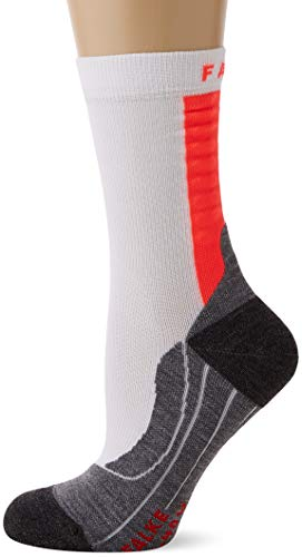 FALKE Damen Achilles W SO Sportsocken, Weiß (White-Neon Red 2028), - Falke Damen Tennissocken