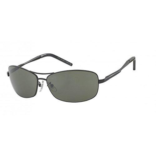 Lunettes de soleil chic-Net verres Hommes lunettes de vélo teintées 400UV demi-cercles cadre en métal gris U5KLQYAc