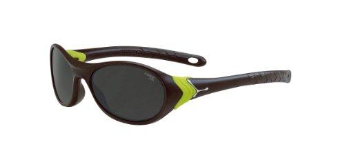 Cébé Jungen CBCRICK1 Wrap Sonnenbrille, green - Matte Brown / Neon Green