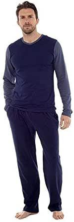 Mens Pyjama Set Long Sleeve Top & Pants