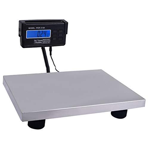 WCX Balanza postal electrónica Industrial Comercial Profesional, Acero Inoxidable Pesaje Plataforma Balanza Tara Cuentapiezas acumulación de pesadas Pantalla LCD grandes dígitos