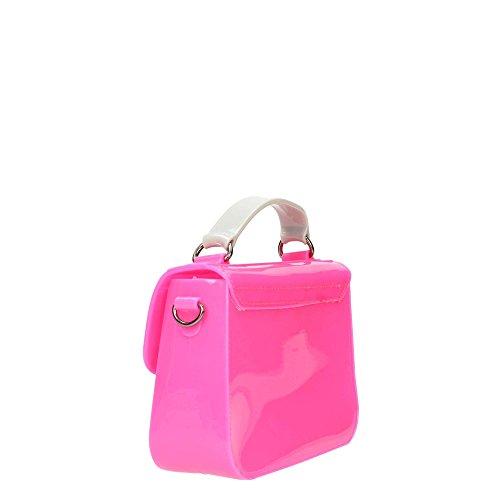 Borsa Tracolla Pop-up Rubber Mini Penso Coral & Grey Rosa