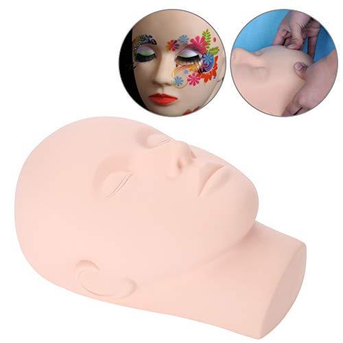 Mannequin Kopf für Wimpernverlängerung, Make-up Praxis Übungskopf mit Hohe simulierte Hautbeschaffenheit, Dummy Köpfe Training Zubehör für Make-up, Tattoo, Massage