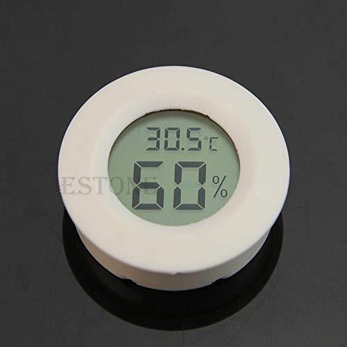 Besttse - Termómetro Digital LCD para frigorífico y congelador, medidor de Humedad, Blanco
