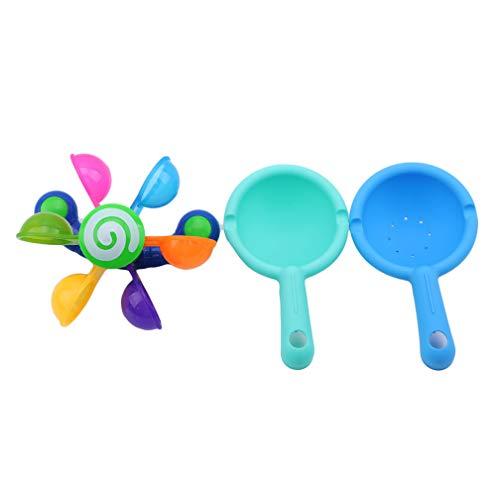 LJSLYJ Badewannen Spielzeug Windmühle Scoop Wasserrad Badespielzeug Bad Sasserspielzeug für Baby und Kleinkinder -