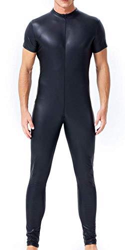 Erotische Halloween Kostüm,Jumpsuit aus Lackleder für Herren,XXXL ()