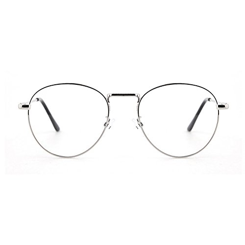 1920s Nerd Brille filigran rund Glasses Klarglas Hornbrille treber 46R90 Gold