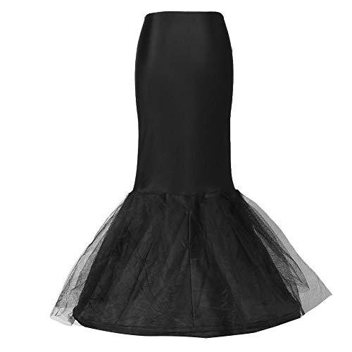 Ein Krieg Maschine Kostüm - Frauen schwarz Fischschwanz Hochzeit Petticoat Zubehör