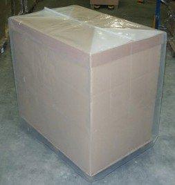 Preisvergleich Produktbild Schrumpfhauben Europalette/Gitterbox Abdeckhauben 1250x850x1800x0,125 mm 5 Stck.