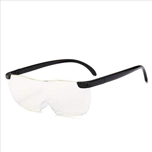 junkai Lesebrille Damen Herren, Vergrößerungsbrille, Anti-Blaues Licht Gläser, Lupenbrille, Zauberbrille Lupe, 160% Vergrößerung Brillenlesen, 250 Grad Elegant Rechteckig Gläser