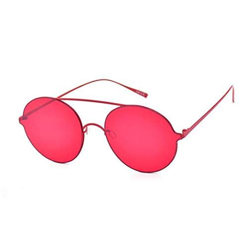 YIWU Brillen Ins Super Feuer Gläser Harajuku Stil Street Beat Konkave Form Gelee Sonnenbrille Weibliche Runde rote Judi Sonnenbrille Flut Brillen & Zubehör (Color : Red)