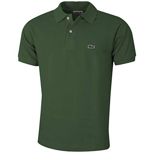 Lacoste L1212 Herren Polo Shirt Kurzarm,Männer Polo-Hemd,2 Knopf,Regular Fit,Marsh(SNK),Medium (4) - Vier-knopf-kurzarm-polo-shirt