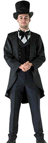 erdbeerloft - Herren Oscar Diggs Zauberer von OZ Karnevalskostüm, XL, Schwarz (Schwarz Zauberer Von Oz)