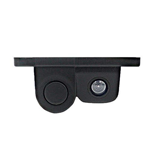 31wSEXk7yaL - Luckiests 2 en 1 Auto estacionamiento del sensor del sonido de alarma del revés del coche del vídeo de copia de seguridad del coche granangular de alta definición marcha atrás cámara de visión trasera