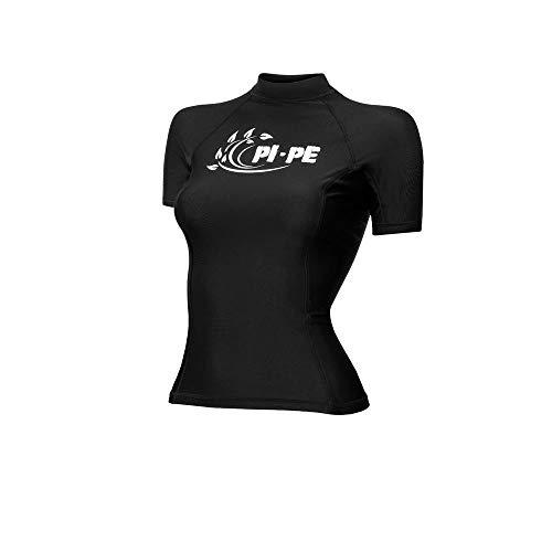 PI-PE Rash Guard Damen S/S Short Sleeve Black L