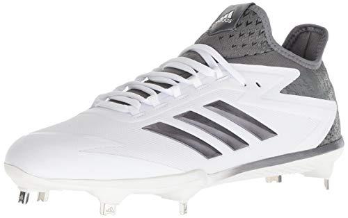 best website b619a 03b6b adidas Mens Freak X Carbon Mid Baseball Shoe, Ftwr White, Iron Met, Silver