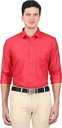 ONCHU Men's Solid Formal Shirt