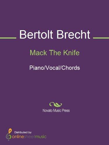 Mack The Knife Ebook Bertolt Brecht Bobby Darin Ella Fitzgerald