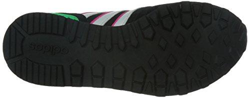 adidas 10k W, Chaussures de Sport Femme, Multicolore Noir / Blanc / Rose (Negbas / Ftwbla / Rosimp)