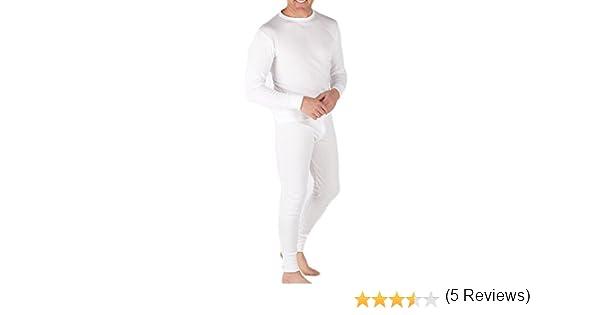 Sous-Vêtements Thermique (Maillot de Corps Manches Longues et Long Caleçon) Pour  Homme White Medium  Amazon.fr  Sports et Loisirs 9cca3fb0091